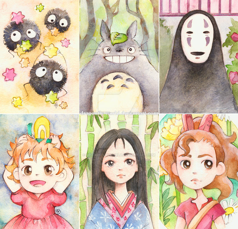 Ghibli Fanart Mini Collage by dragonfly-world