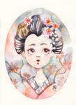 Sakura Blossom (Geisha Portrait)
