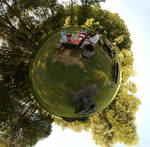 In a stereographic park