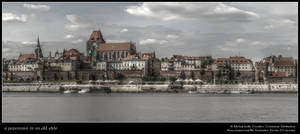 a panorama in an old style