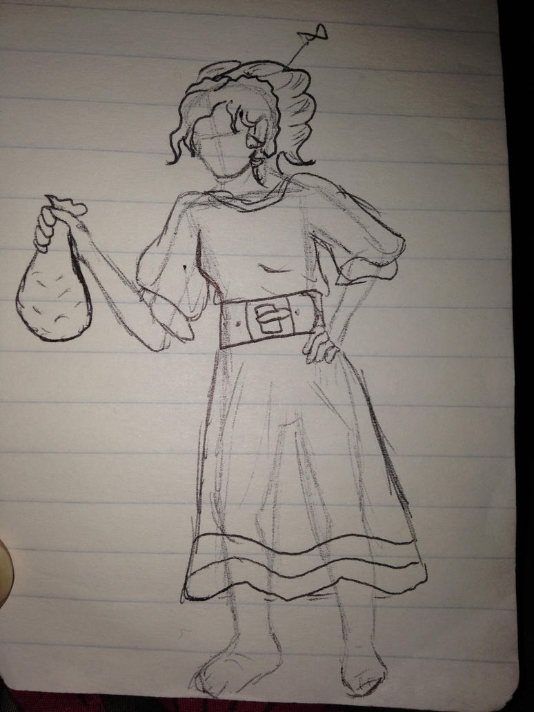 Halfling sketch from work by IckleVoldiePoo