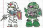 Gundam , Zaku Warrior