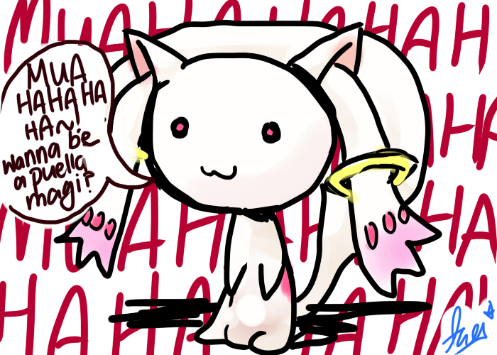 kyubey is evil by azure2526 on deviantart