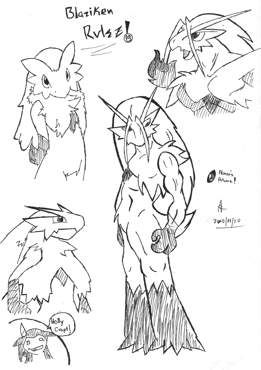 Blaziken Coloring Pages Coloring Pages