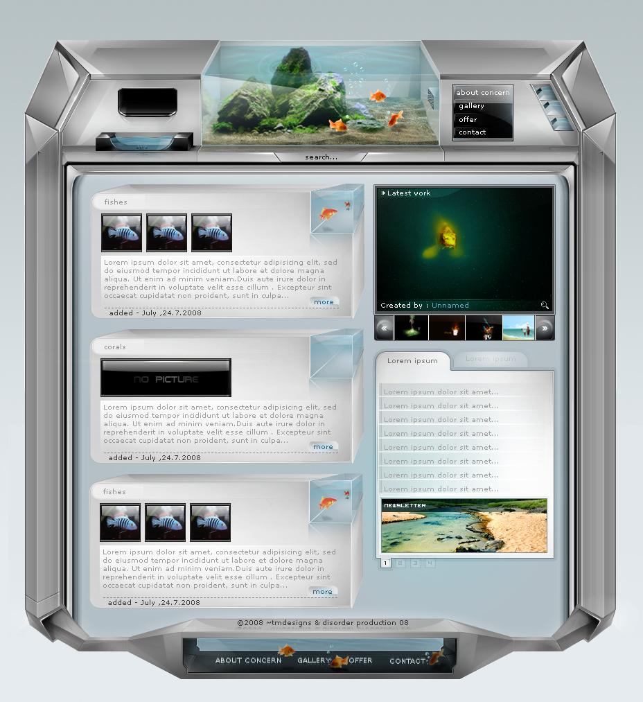 aqua interface by tadejmiklavc