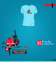 disorder t-shirt print by tadejmiklavc