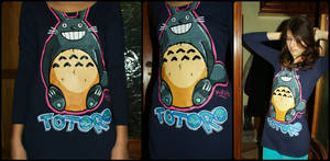 Totoro Painted Shirt! by Monsieur-Drams
