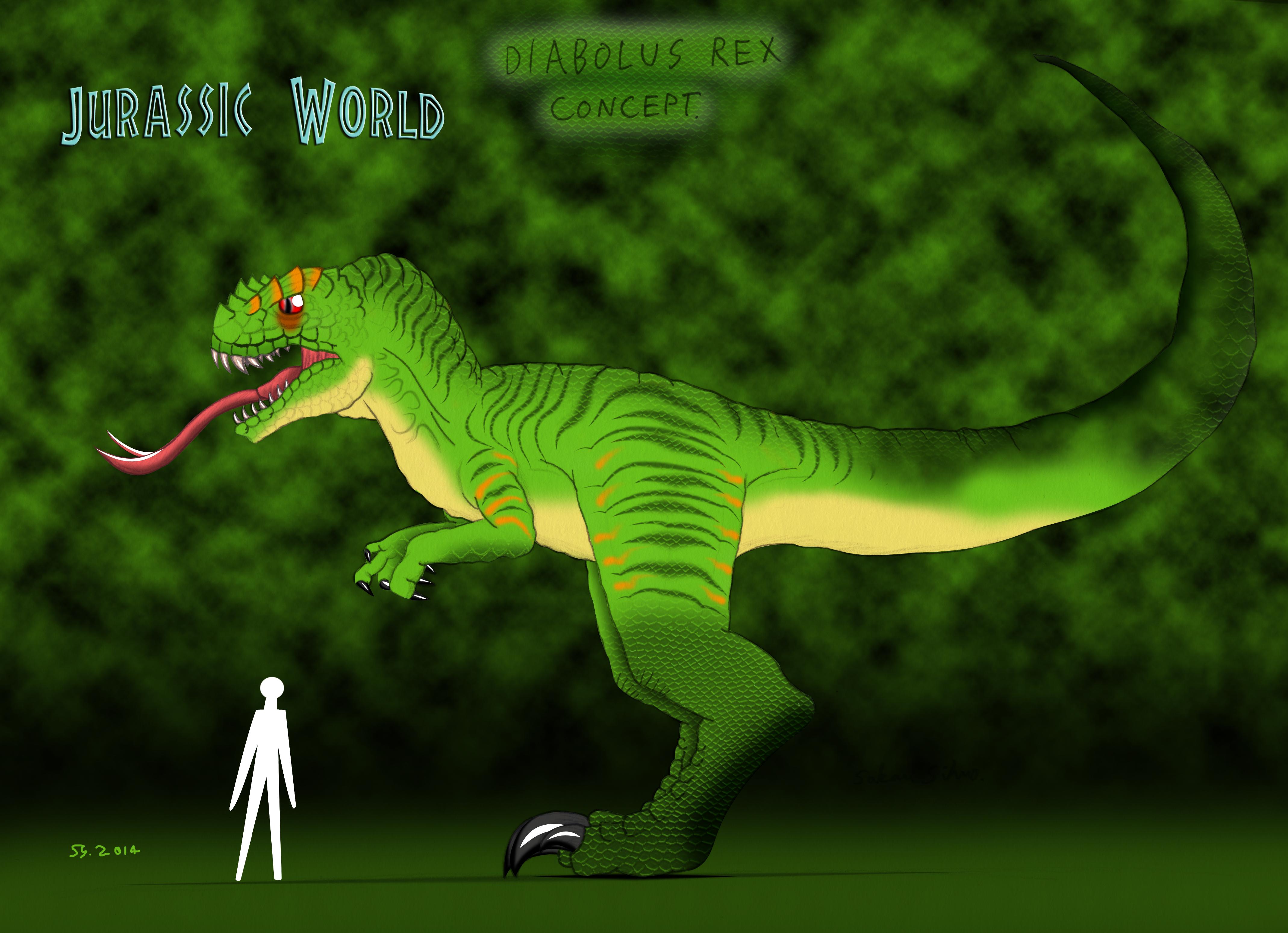 Jurassic World Diabolus Rex concept by DSlayerMinster on ...