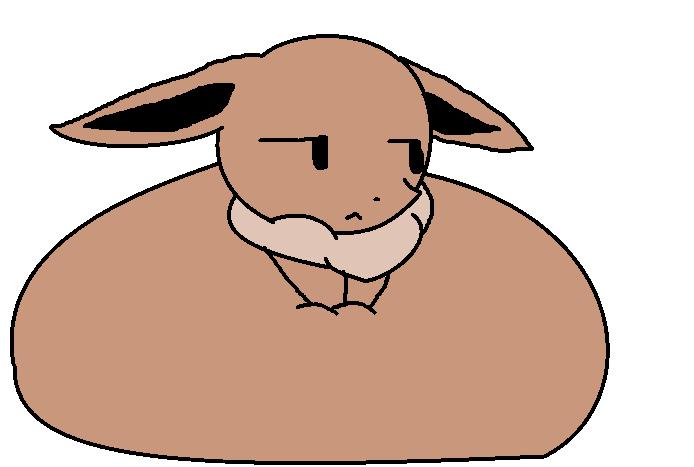 Bloated Eevee or somethin' by Kawaii-Espeon