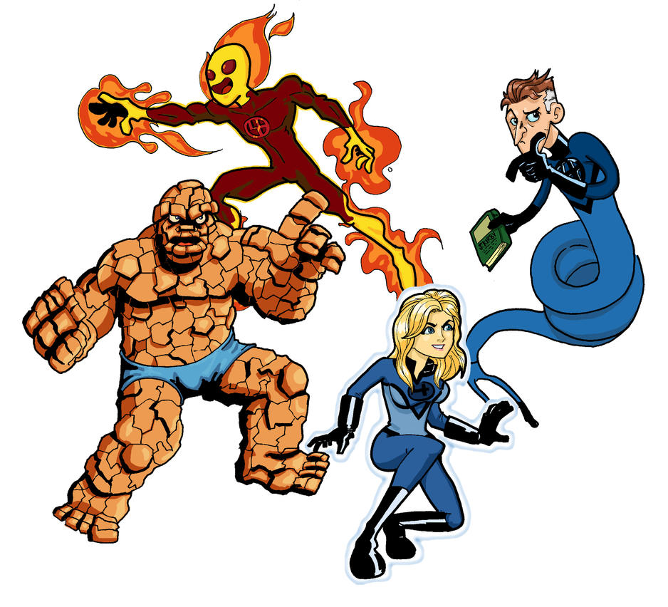fantastic four stickers by gregoyo on deviantart rh gregoyo deviantart com  fantastic four logo clipart