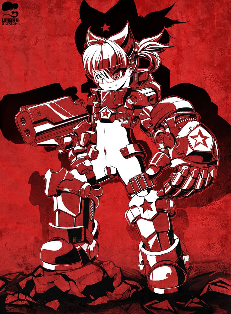 Red fist by Krokobyaka