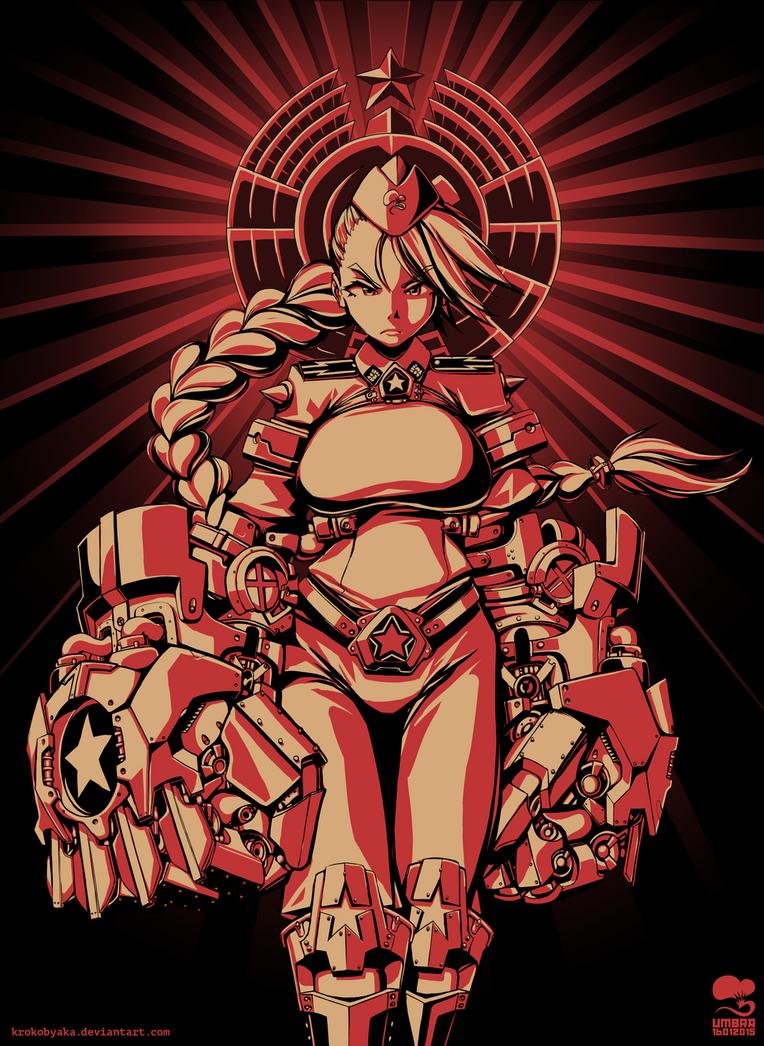 Red Fist 2 by Krokobyaka