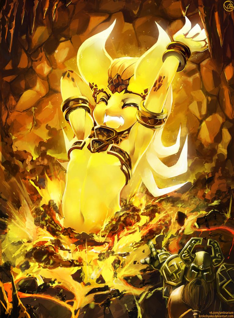 Ragnaros awakening by Krokobyaka