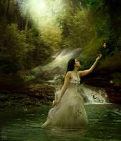 Under Waterfall by MeeranUhm