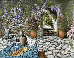 Mediterranean patio by AnnaZLove