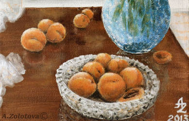Irises with apricots fr