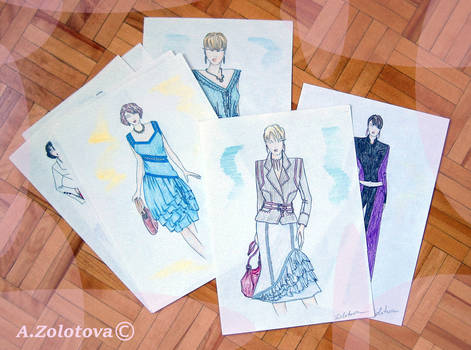 The selection of sketches for the new collection 5