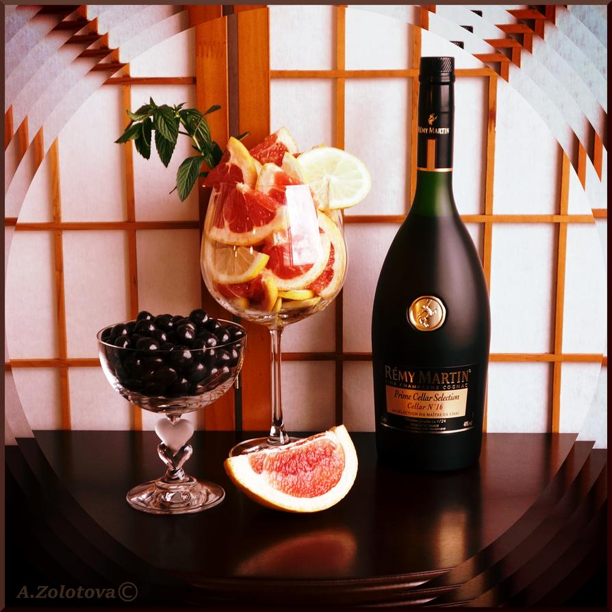 Cognac, grapefruit, mint 1 by AnnaZLove