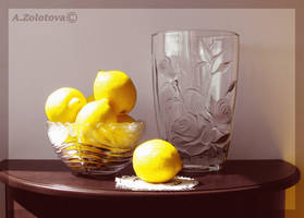 Citrus in a Crystal bowl by AnnaZLove