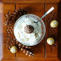 Nut-milk dessert with Ferrero Rocher by AnnaZLove
