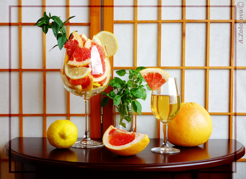 Citrus fruit with Herbs by AnnaZLove
