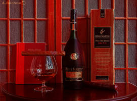 Remy Martin et le cigare 4. In red by AnnaZLove