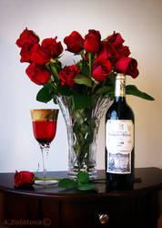 Still life with red roses by AnnaZLove