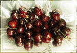 Juicy Sweet Cherries in Gold Powder 1 by AnnaZLove