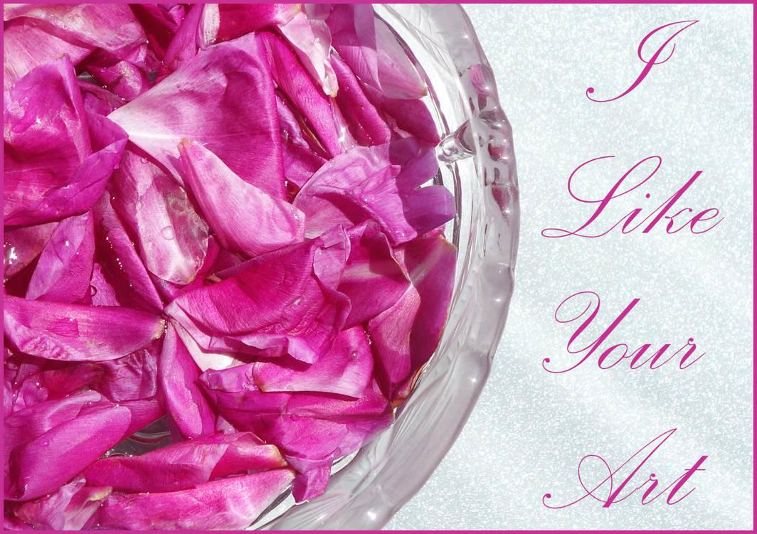 I Like Your Art. Pink petals