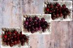 Juicy Sweet Cherries. Collage