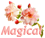 Magical. Roses. Pink color