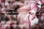 Happy Birthday! November. Magnolia