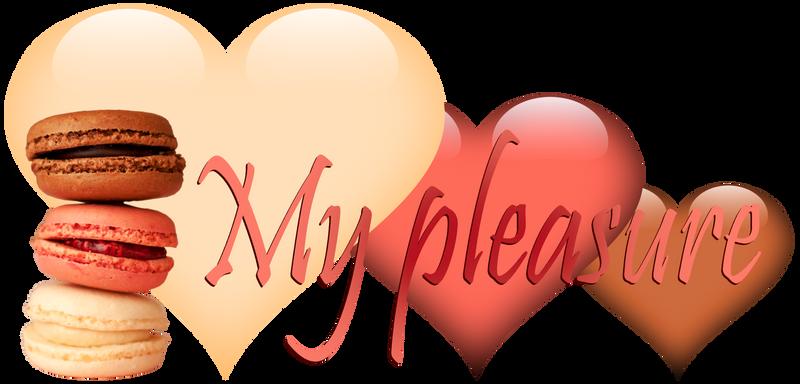 My pleasure. Macarons and hearts. Pink