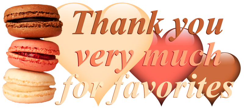 Thank you very much for favorites. Macarons and he