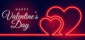 Happy Valentine's Day. Two hearts