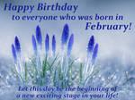 Happy Birthday! Fabruary. Crocuses