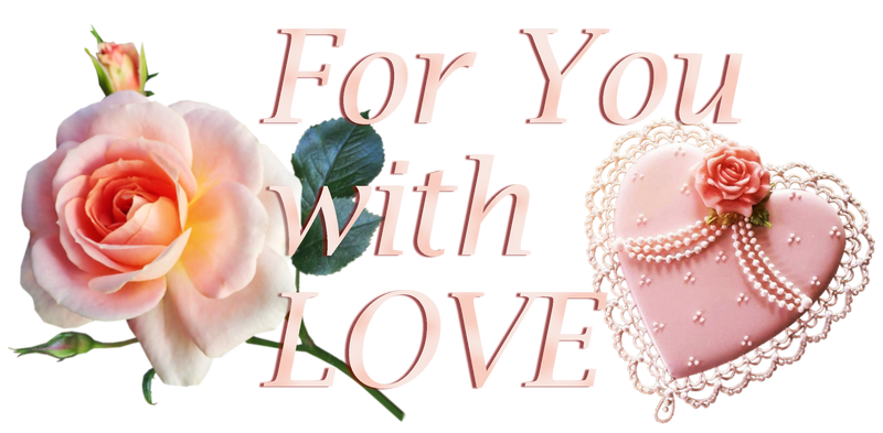 For You with LOVE. Lace heart and rose 1