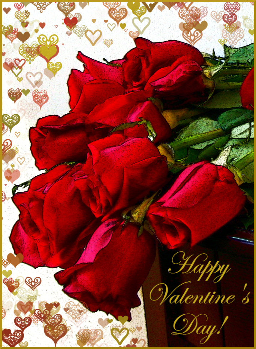 Happy Valentine's Day! Red roses