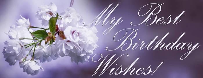 My Best Birthday Wishes! Cherry blossom