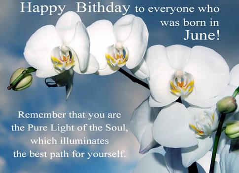 Happy Birthday! June. Orchid