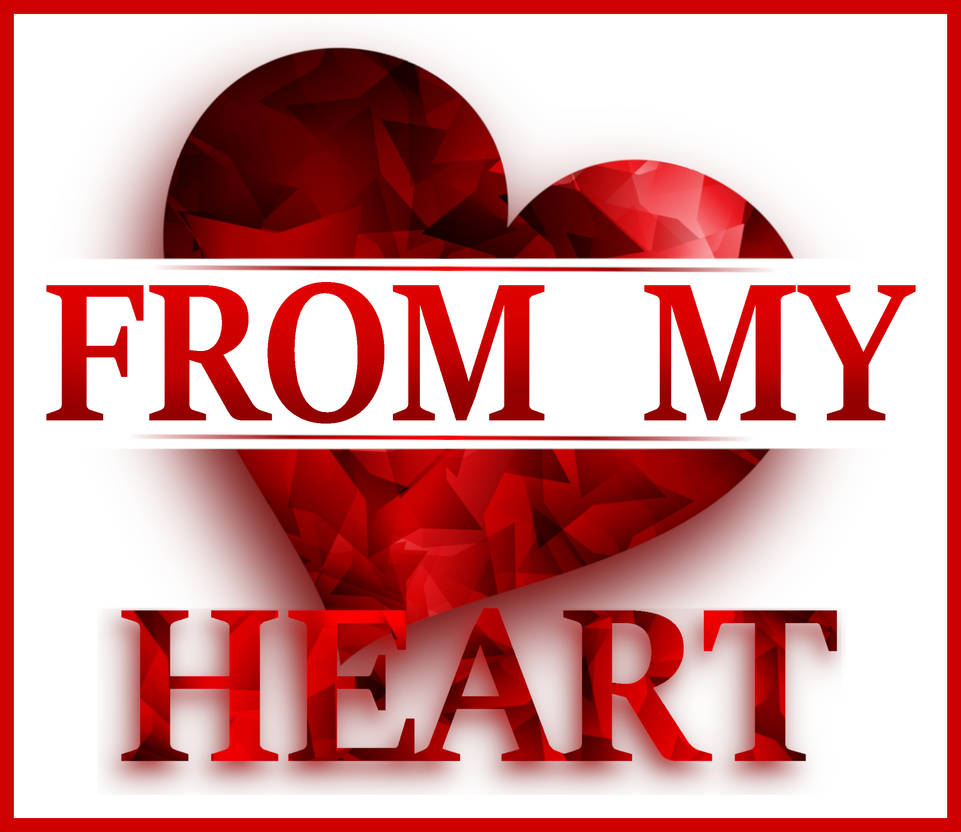 FROM MY HEART. Red heart