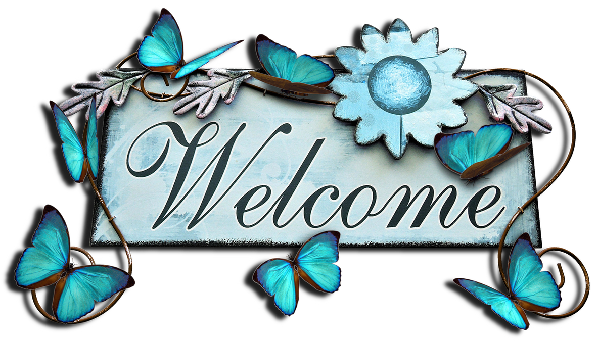 Welcome. With butterflies