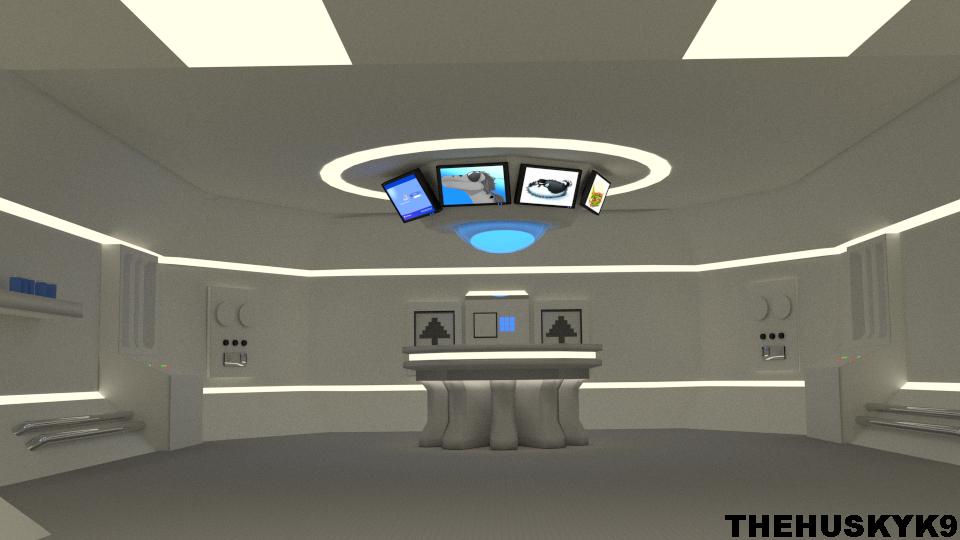 3D Futuristic Room by TheHuskyK9