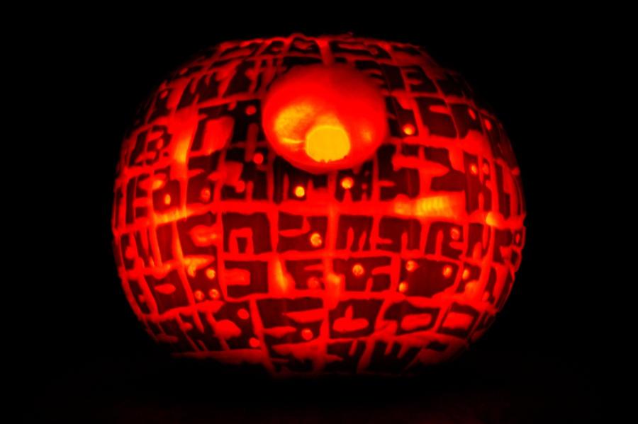 Death Star Pumpkin by dodgeimagery