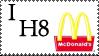 I H8 McDonalds Stamp by Toonfreak