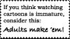 Cartoon Watcher Stamp by Toonfreak