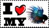 I Love My Betta Stamp by Toonfreak