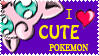 I Love Cute Pokemon Stamp