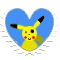 Pika Heart Stamp by Toonfreak