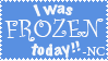I Was Frozen Today Stamp by Toonfreak
